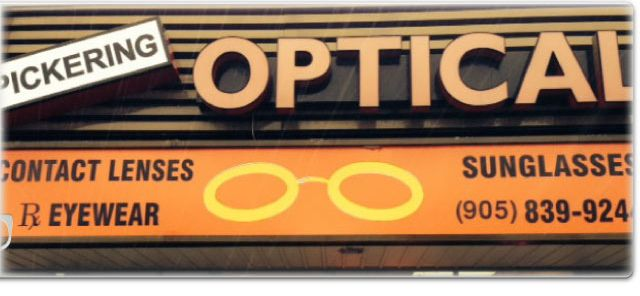 Pickering Optical exterior sign